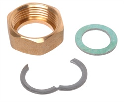 Backnut, circlip & fibre washer  DN12