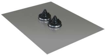 Lead base flashing – twin silicone boot
