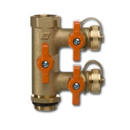 PAW Flush & fill unit for copper pipe 22mm